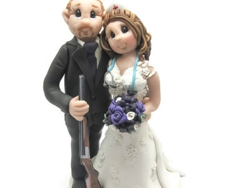 Custom wedding cake topper, personalized cake topper, Bride and groom cake topper, Mr and Mrs cake topper, Nurse cake topper