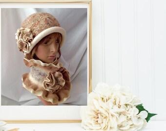 Merino Wool Felted Hat, Felt cloche hat, Style Cloche,Women Spring Fashion, Fall Elegant Fashion, Cloche Felt Hat, Stylish Classy Lady Hat