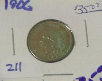 1906 Toned Indian Head Penny/ High Grade (PK67)