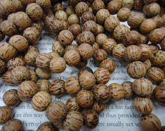 10mm coconut round beads, 20pcs.
