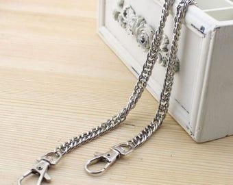 handbag in silver chain 60 cm