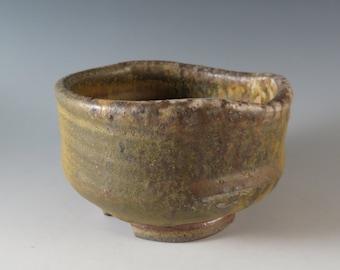 Wood-fired Stoneware Tea Bowl (317)