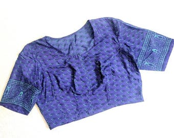Handmade Cropped Scarf Shrug Blouse