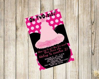 Minnie Mouse Invitation 1st 2nd 3rd Birthday Personalized Invitation +Thank You Card Add On Custom Printable Any Age