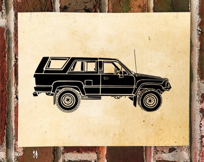 KillerBeeMoto: Limited Print Vintage Japanese SUV Truck Automotive Print Print 1 of 50