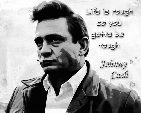 Johnny Cash The Man In Black Graphic 8x10 Poster Print With