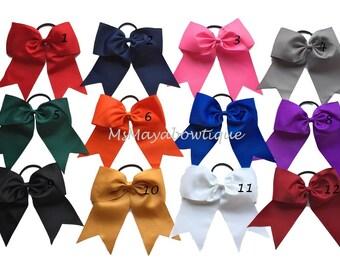 Cheer bows, big cheer bows, cheerleading bows, softball bows, senior cheer bows, softball hair ties, school cheer bows, cheerbows, bows