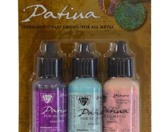 Vintaj® Ranger Patina™ Inks Victorian Gable Amethyst Marine & Quartz Jewelry Making Kit - V-34810