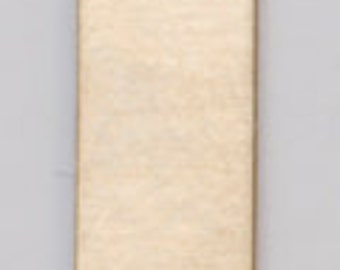 """Brass Blanks Rectangle Tag With Ring 11/16"""" x 3/16"""" 24ga Pkg Of 6"""