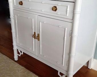 Faux Bamboo nightstand  thomasville customizing available