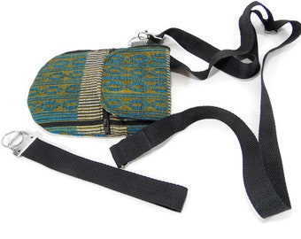 Crossbody multi-color purse, small satchel, pouch, passport bag or crossbody cell phone bag.