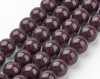 "Brown Mashan Jade Beads 4∼10mm Strand 15.5""-38cm Brown Candy Jade Brown Mountain Jade Brown Jade Brown Mashan Stone"