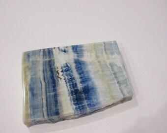 Lapis Lace Onyx (Scheelite in Calcite) Polished Slice