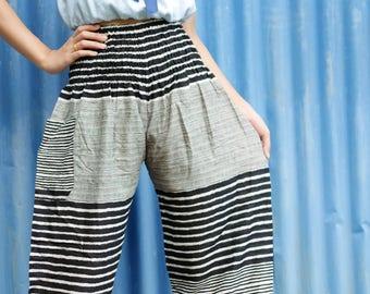 Black pants Palazzo pants women Rayon pants Harem pants long Bohemian pants Tribal pants yoga clothing boho chic