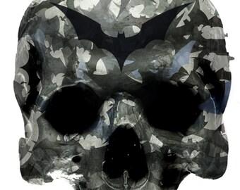 Bat Skull vinyl Sticker