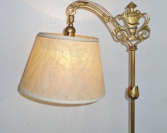 Bridge arm lamp etsy antique art deco polychrome bridge arm 5 feet tall floor lamp aloadofball Image collections