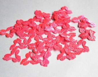 35 pcs Matte Pink  Color Flower Sequins/ Code PBF508