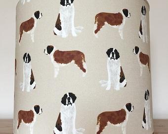 Saint Bernard dog print Lampshade