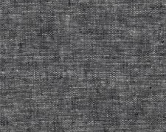 0.5m Essex Yarn Dyed Linen Black