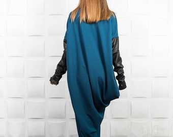Turtleneck sweater, Loose sweater, Knit sweater, Wool sweater, Knit top, Wool Cardigan, Oversized cardigan, Boho cardigan, Tunic tops/ V0013