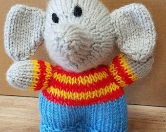 Elephant In Clothes Knit Animal