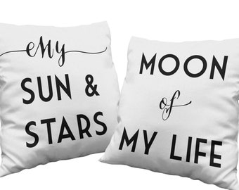 Gifts for couples hipster pillow set Game of Thrones quote my sun and stars moon of my life throw pillow home decor black and white