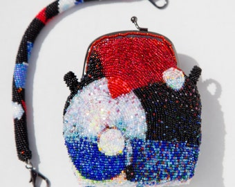 """Embroidered purse """"Suprematism"""""""