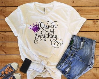 Queen of Everything//Bossy//Womens Tee Shirt//Crown