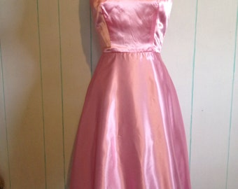 Pink Handmade Party Dress with Full Skirt Size 7