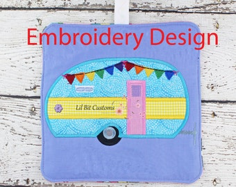 ITH Camper Pot Holder embroidery design