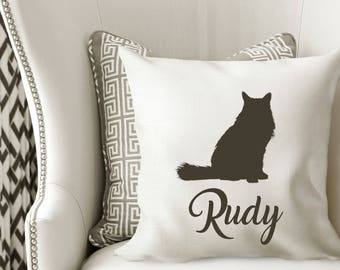 Personalized CAT Pillow Cover