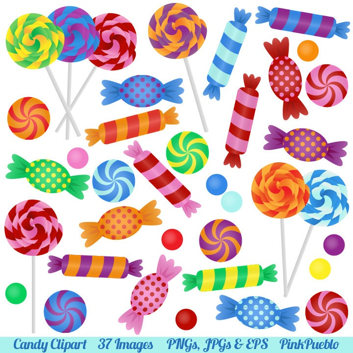 candy clipart clip art with lollipops peppermints hard candy rh etsy com candyland characters clipart candyland clipart images
