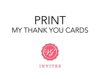 Print My Thank You Cards with Squared Corners