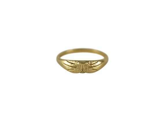 Gold Cat Ring Cat Ring Gold Band Ring Thin Gold Ring