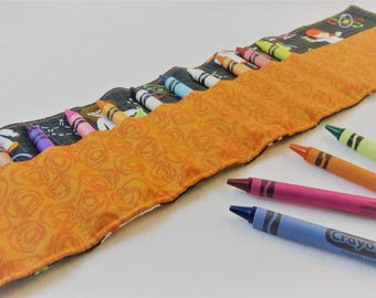 Crayon Roll in Science Girls, Holds 16 Crayons