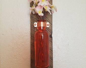 Orange Hanging vase