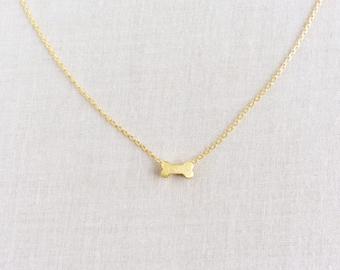 Dog bone necklace etsy dog bone necklace small dog bone necklace tiny dog bone necklace dog bone jewelry dog lover jewelry gift for dog lover dog bone gpn20 aloadofball Images