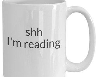 Shh i'm reading mug