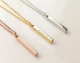 Engraved necklace etsy personalized gift for women personalized gifts for mom engraved necklace d4bn aloadofball Choice Image