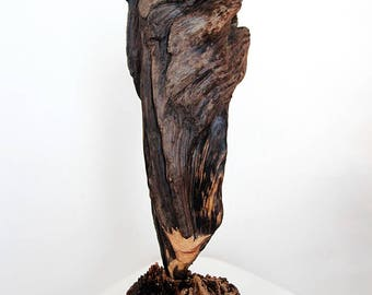 Driftwood Sculpture, Wooden Sculpture, Driftwood Ornament, Abstract Art, Beach Decor, Shabby Chic, Coastal Decor, Home Decor, Wood Art