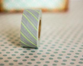 Masking tape, washi tape gris/vert Masté MT 15mm x 7m