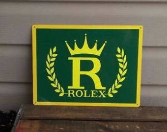 Metal Rolex Advertising Sign - Perfect for the garage / mancave