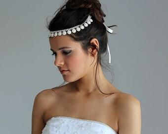 Pearl and Rhinestone  Headband, Bridal  Headband, Wedding Headband,  Bridal Hair Accessory, Wedding  Accessory