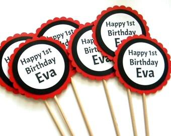6 Happy Birthday Centerpieces, First Birthday, Centerpiece Sticks, Party Decor, Birthday Centerpieces, Baby Shower, Table Decor, Custom