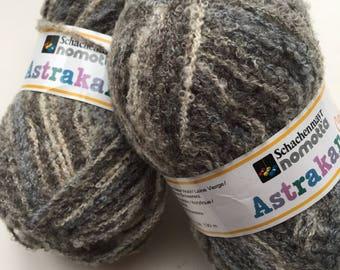 New wool yarn, specialty yarns, gray yarn, Wool Acrylic blend, knitting, craft yarn, discontinued yarn, destash, vintage yarn, crochet