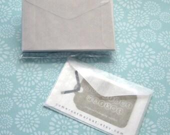 100 Mini Glassine Envelopes 3 5/8 x 2 5/16 inches - Business Card Size