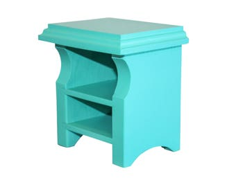 "Teal Nightstand, AG Doll Furniture, 18 inch Doll Furniture, AG Teal Nightstand, 18"" nightstand"