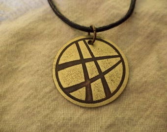 Marvel's Dr Strange Etched Brass Pendant