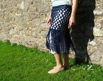 Tribal fusion,  bellydance, hip shawl, ats, fringes crochet