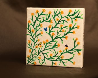 Butterfly Bush miniature painting